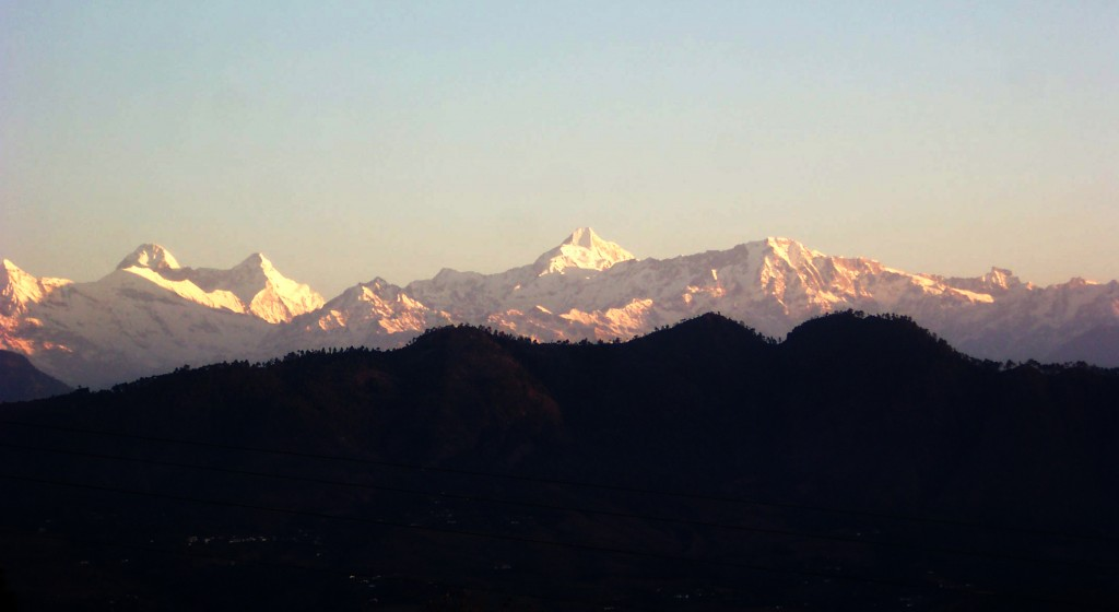 Sunset at Nanda Devi .. View from Berinag, Uttrakhand